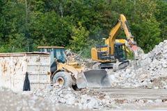 Hammer digger and bulldozer Royalty Free Stock Images