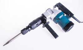 Hammer drill. Hammer drill on the background Royalty Free Stock Photography