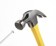 Hammer Driving Nail Royalty Free Stock Photos