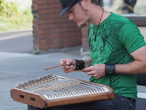 Hammer Dulcimer Or Tsymbaly Player Royalty Free Stock Photo