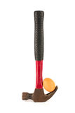 Hammer and Egg Royalty Free Stock Image