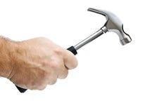 Hammer in einer Hand Lizenzfreies Stockbild
