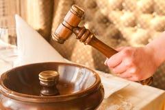 Hammer für Auktionen Lizenzfreies Stockfoto