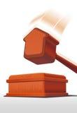 Hammer für Gehäuseauktion Lizenzfreies Stockbild
