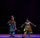 "The hammer fell to lose--Peking opera ""Little Worriors of Yeuh's family"" Stock Image"