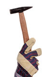 Hammer and glove Stock Image