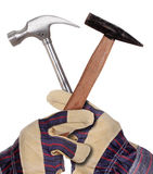 Hammer and glove Stock Images