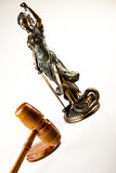 Hammer and god of law Stock Photo