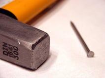 hammer gwóźdź Zdjęcia Stock