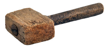 Hammer hölzern (Holzhammer) Lizenzfreie Stockfotografie