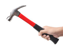 Hammer in hand Royalty Free Stock Photography