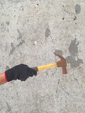 Hammer in a hand Royalty Free Stock Photo