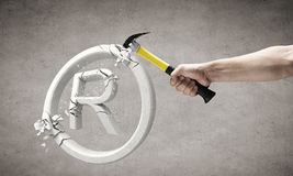 Hammer in hand Royalty Free Stock Photos
