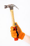 Hammer in hand Stock Image