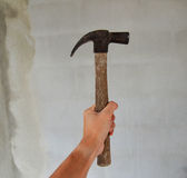 Hammer in hand. For Woker Royalty Free Stock Photography