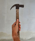 Hammer in hand. For Woker Royalty Free Stock Photo