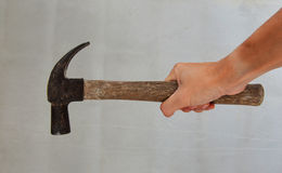 Hammer in hand. For Woker Royalty Free Stock Image
