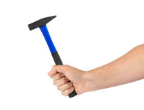hammer handen arkivfoto