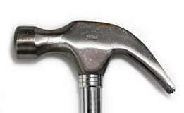 Hammer head. Closeup of used steel hammer head Stock Photos
