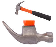 Hammer head nail claw and side view of stainless steel hammer Royalty Free Stock Photography
