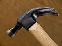 Hammer Head wood background Royalty Free Stock Images
