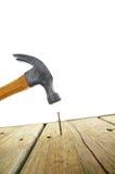 Hammer hit Royalty Free Stock Image