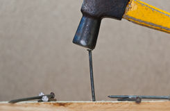Hammer hit a Nail Royalty Free Stock Image