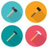 Hammer icons set Royalty Free Stock Photo