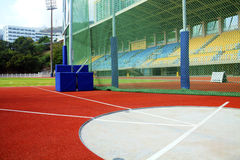 The Hammer and Javelin Throwing Area. Area for javelin and hammer throwing on the athletics field Stock Image