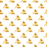 Hammer of justice pattern seamless Royalty Free Stock Image