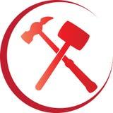 Hammer logo concept Stock Image