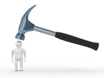 Hammer in man Stock Photos