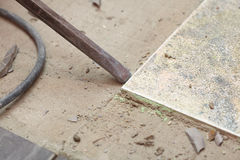 Hammer mason work floor tool Stock Photography