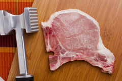 Hammer for meat Royalty Free Stock Image