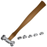 Hammer for minting Royalty Free Stock Photo