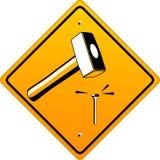 Hammer nail. Hammer safety job maintenance nail Royalty Free Stock Photography