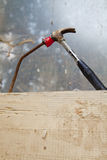 Hammer and nail Stock Photography