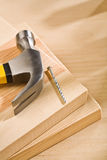 Hammer with nail Royalty Free Stock Images