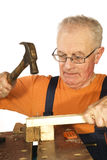 Hammer and nail Royalty Free Stock Image
