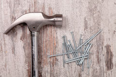 Hammer and nail Royalty Free Stock Photos