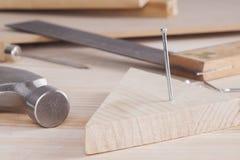 Hammer and nail Royalty Free Stock Photos