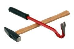 Hammer and nail drawer Stock Image