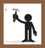 Hammer Nail Figure Royalty Free Stock Image