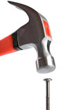 Hammer and nail isolated Stock Photos