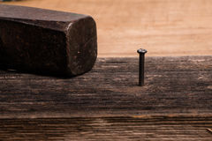 Hammer and nail Royalty Free Stock Images