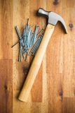 Hammer and nails. Stock Photography