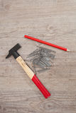 Hammer and nails Royalty Free Stock Image