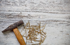 Hammer and nails Royalty Free Stock Photography