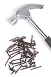 Hammer and nails Stock Photography