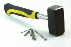 Hammer nails Royalty Free Stock Photos